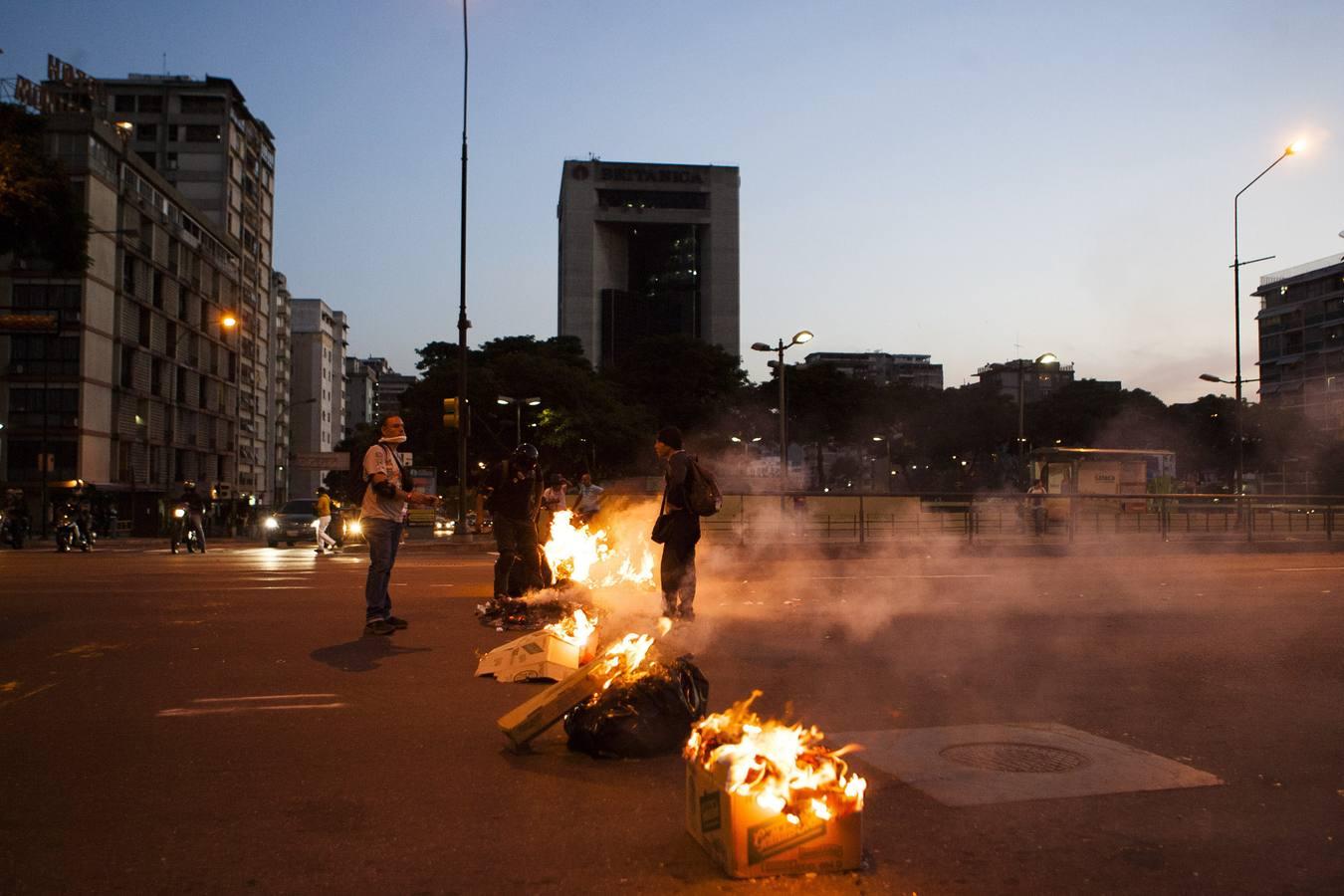 Violencia en las calles de Caracas