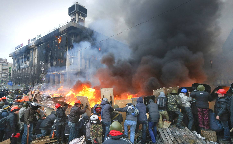 Violentos enfrentamientos en Kiev