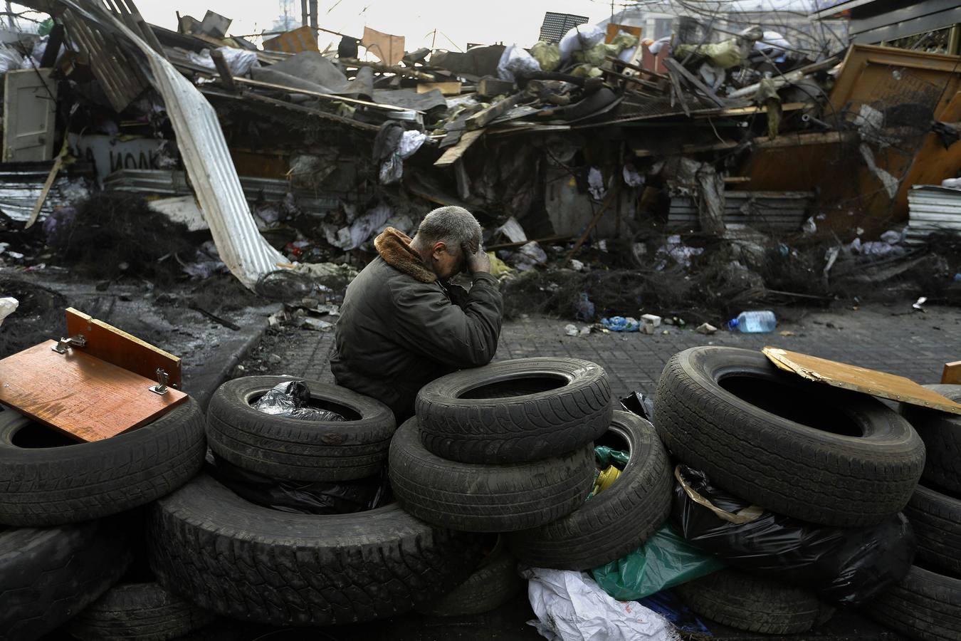 Ucrania se tiñe de rojo