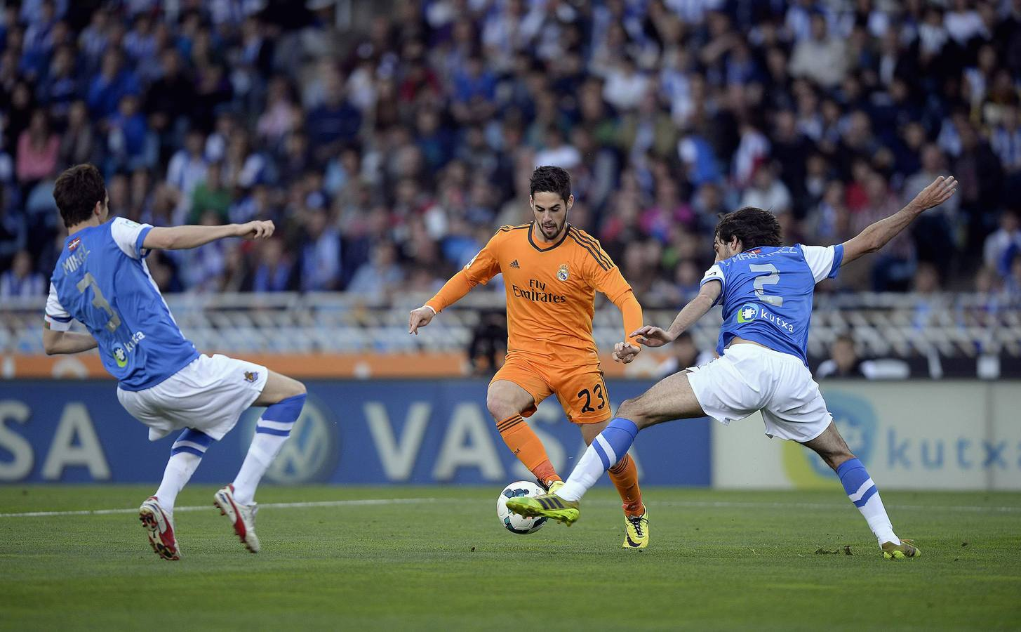 Las mejores imágenes del partido entre la Real y el Real Madrid